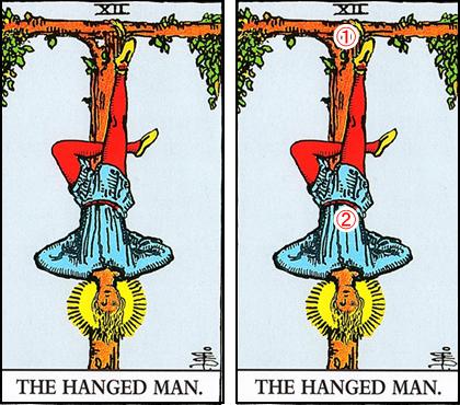 12.THE HANGED MAN/吊るされた男