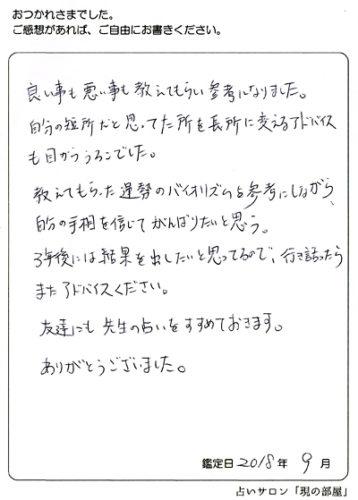 お客様の感想/40代男性