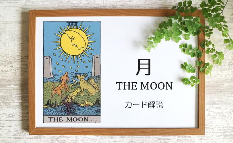 18. 月/THE MOON(ムーン)タロットカードの意味と象徴の解説