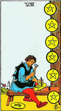 EIGHT of PENTACLES/ペンタクルの8