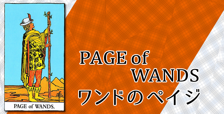 PAGE of WANDS/ワンドのペイジ