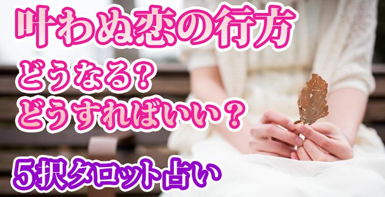 『叶わぬ恋の行方』どうなる?どうすればいい?5択恋愛タロット